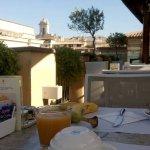 Rooftop breakfast area