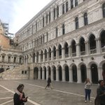 Inside the courtyard of Doge's Palace.
