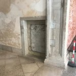 A door to one of the prison cells in Doge's Palace.