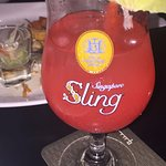 Singapore Sling at the Quincy Hotel