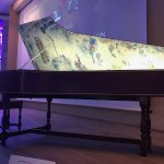 Marc Chagall - harpsichord painted my the artist in the auditorium where the documentary is show