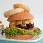 Our Something Cheesy Burger.