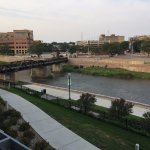 View of the Big Sioux River from private balcony