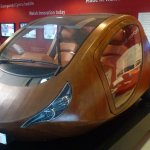 The wooden car
