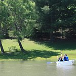 STONE ROSE OFFERS BOAT RIDES ON OUR 2 PONDS ALONG WITH HIKING TRAILS, NUMEROUS GARDENS AND BENCH
