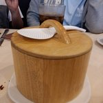 Rice (lukewarm) served in these bamboo pots