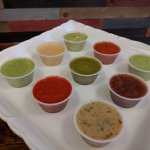 Our selection of salsas, all made fresh daily...
