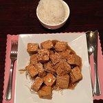 Sesame Tofu with White Rice