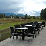 Outdoor seating at the Clubhouse