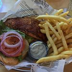 Blackened Mahi Sandwich was delicious and also love their fries.