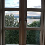 a room with a view of the lake