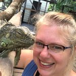 Kissed by an iguana