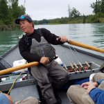 Kenai River with our guide Brian