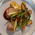 Delicious main course of guinea fowl 2 ways!