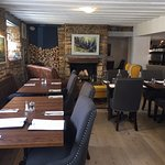 Our restaurant area- the beautiful pews come from St Lawrence's Church just around the corner.