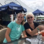 Bev Davis and Bayley Shaw at the Arundel Wharf Restaurant