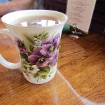 pretty cup my tea was served in