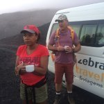 Coffee before the climb up the volcano!