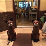 2 cute cats to welcome all patrons @ Giorgio