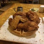 Terrace Cafe Chicken and WOW Waffles.