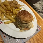 burgers with awesome onion rings & fries