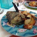 Basically this was the fish of the day a head it was absolutely awful and tasteless this was min