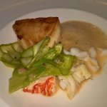 Sea Bass and lobster