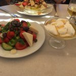 Greek Salad & Yogurt w/Honey up front. The Yogurt w/Fruit & Nuts behind. (Not to mention the Bee