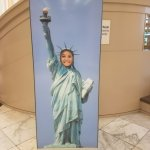 Lady Liberty photo op