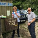 We went with Neil and Sue on their trip to get eggs for breakfast and bought me a goose egg