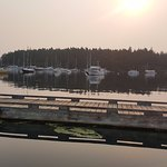 A bit smoky due to forest fires on the mainland, but great sunsets