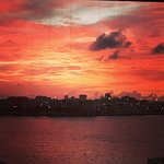 A stunning red sky over Miami