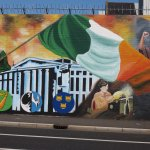 One of the murals depicting times of the Troubles.