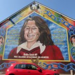 Mural on the Irish Side - Bobby Sands one of the leaders.