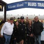 Welcome Aboard! Our Aussie hosts and Blues Train founder/proprietor Hugo T Armstrong.