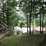 Woodland yurt #7 queen size bed