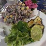 Fresh tuna ceviche! Yum!