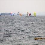 Colorful sailboats.