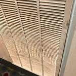 Dust on air conditioner intake