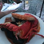 Lobster, clams, shrimp and scallops