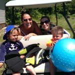 Getting around by golf cart!