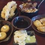 Scallops, Shrimp, Beef, Dumplings