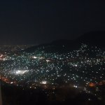 View from The mirador, close to the place at night