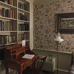corner desk and bookcase