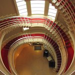 Spiral staircase to reception
