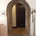 Ancient preserved archway in our suite, bridging our living room and bedroom/bath area.
