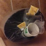 Nothing would go into the wastebasket.