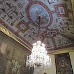 Tapestries and paintings