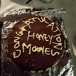 The sweet chef made a cake for the Honeymooners in our group!