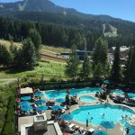 Mountain and pool view